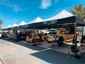 tentes paddocks de Balbosca Racing Team
